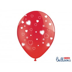Balony 30cm, Serca, Crystal...