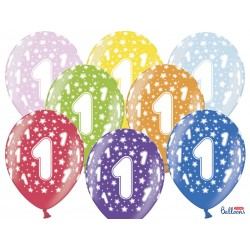 Balony 30cm, 1st Birthday,...