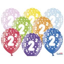 Balony 30cm, 2nd Birthday,...