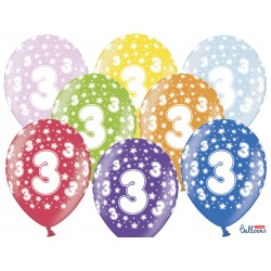 Balony 30cm, 3rd Birthday,...