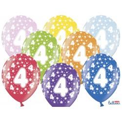 Balony 30cm, 4th Birthday,...