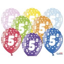 Balony 30cm, 5th Birthday,...