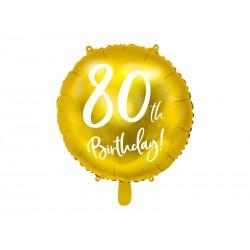 Balon foliowy 80th...